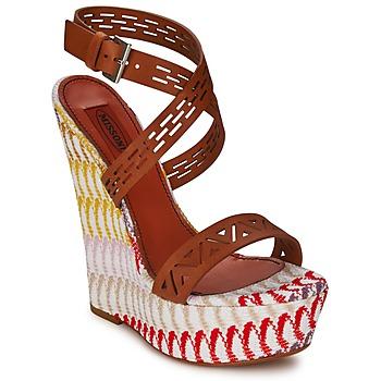 Sapatos Mulher Sandálias Missoni XM015 Castanho / Multicolor