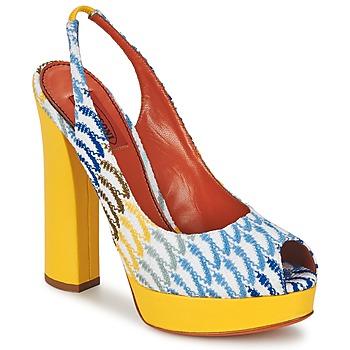 Sapatos Mulher Sandálias Missoni XM005 Amarelo / Azul