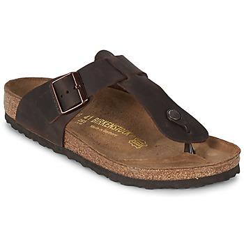 Sapatos Homem Chinelos Birkenstock MEDINA PREMIUM Castanho