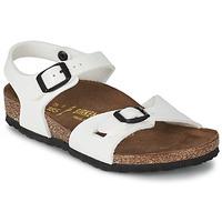 Sapatos Rapariga Sandálias Birkenstock RIO Branco / Verniz