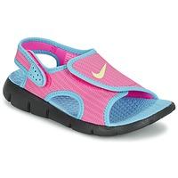 Sapatos Rapariga Sandálias Nike SUNRAY ADJUST 4 Rosa / Azul