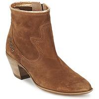 Sapatos Mulher Botins Spiral HEIDI Castanho / Ouro