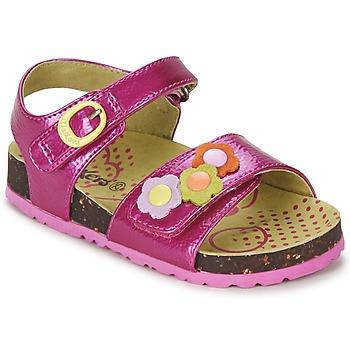 Sapatos Rapariga Sandálias Kickers MAGIFLOWER Rosa fúchia