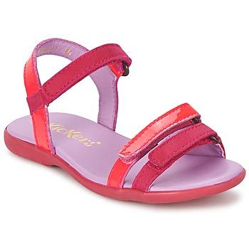 Sapatos Rapariga Sandálias Kickers ARCENCIEL Fúchsia  / Rosa / Fluo