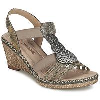 Sapatos Mulher Sandálias Remonte Dorndorf TINACE Ouro / Prateado