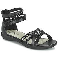 Sapatos Rapariga Sandálias Wildflower GRIMSTAD Preto