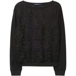Textil Mulher Sweats Gant Camisola Lace Preto