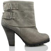 Sapatos Mulher Botins Vienty SOLAPA 2 HEBILLAS GRIS