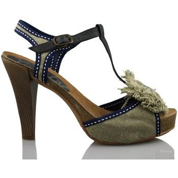 Sapatos Mulher Sandálias Vienty BIO LAZO NATURAL CINTAS AZUL BEIGE