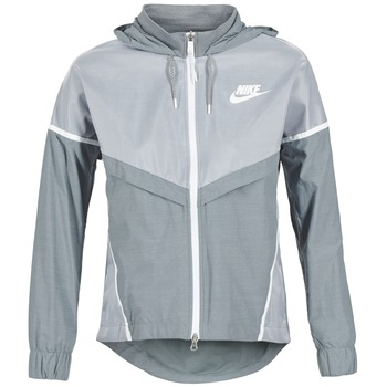 Textil Mulher Corta vento Nike TECH WINDRUNNER Cinza