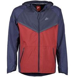 Textil Homem Corta vento Nike TECH WINDRUNNER Vermelho / Marinho / Cinza