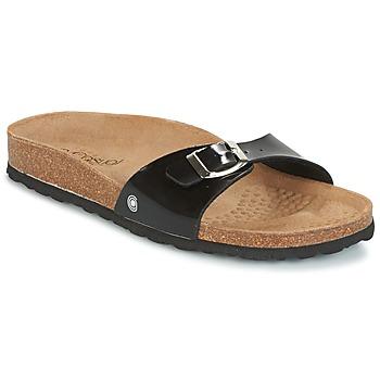 Sapatos Mulher Chinelos Casual Attitude TERTROBAL Preto / Verniz