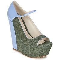 Sapatos Mulher Escarpim John Galliano S54261 Azul / Verde