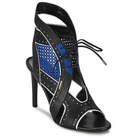 Sapatos Mulher Sandálias Roberto Cavalli XPS254-PZ448 Preto / Azul