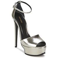 Sapatos Mulher Sandálias Roberto Cavalli XPS260-PZ048 Cinza / Prateado