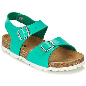 Sapatos Rapariga Sandálias Citrouille et Compagnie RELUNE Turquesa / Branco couro