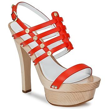 Sapatos Mulher Sandálias Versace DSL943T Vermelho