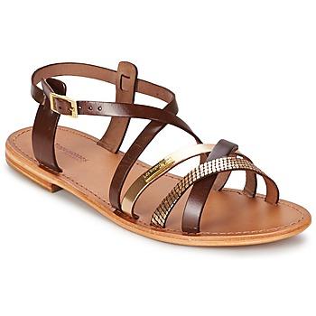 Sapatos Mulher Sandálias Les Tropéziennes par M Belarbi HAPAX Castanho / Dourado