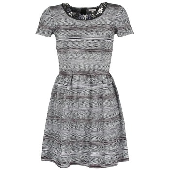 Textil Mulher Vestidos curtos Manoush BIJOU ROBE Preto / Cinza