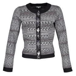 Textil Mulher Casacos/Blazers Manoush BIJOU VESTE Preto / Cinza