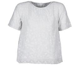 Textil Mulher T-Shirt mangas curtas Manoush COTONNADE SMOCKEE Branco