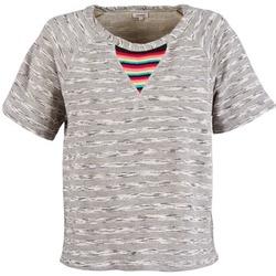 Textil Mulher T-Shirt mangas curtas Manoush ETNIC SWEAT Cinza
