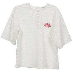 Textil Mulher Tops / Blusas Manoush FLOWER BADGE Branco
