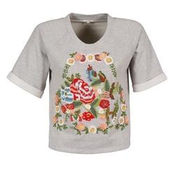 Textil Mulher T-Shirt mangas curtas Manoush GIPSY Cinza