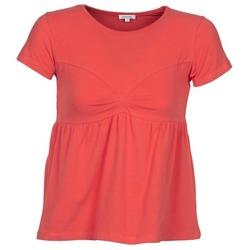Textil Mulher T-Shirt mangas curtas Manoush MOLLETON Coral