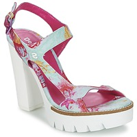Sapatos Mulher Sandálias Desigual VENICE Turquesa / Rosa