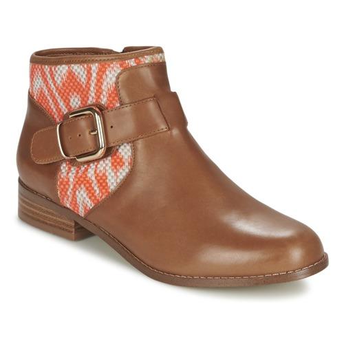 Sapatos Mulher Botas baixas Mellow Yellow VABEL Castanho / Laranja