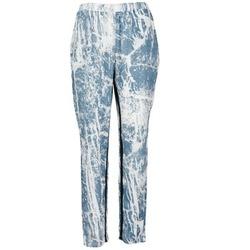 Textil Mulher Calças finas / Sarouels Vila GRUNGE ME Azul / Branco