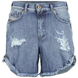 Textil Mulher Shorts / Bermudas Diesel DE SCOTT Azul