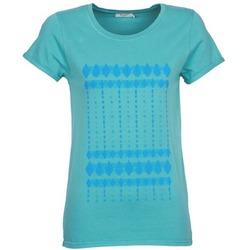 Textil Mulher T-Shirt mangas curtas Kulte JULIETTE BATIK Azul