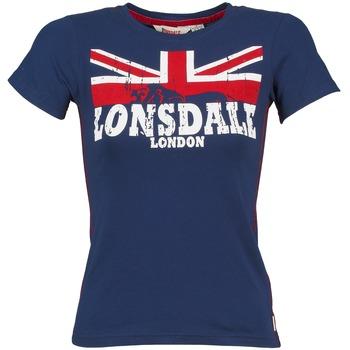 Textil Mulher T-Shirt mangas curtas Lonsdale ERYKAH Azul