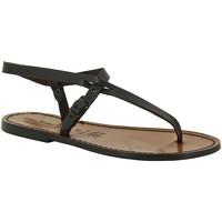 Sapatos Mulher Sandálias Gianluca - L'artigiano Del Cuoio 592 D MORO CUOIO Testa di Moro