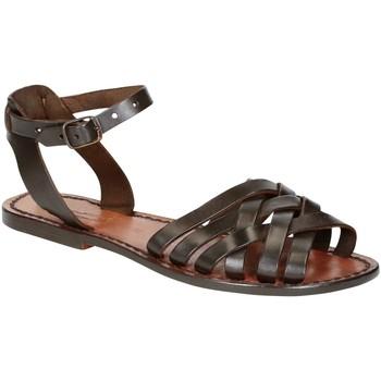Sapatos Mulher Sandálias Gianluca - L'artigiano Del Cuoio 595 D MORO CUOIO Testa di Moro