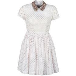 Textil Mulher Vestidos curtos Manoush PLUMETIS STRASS Branco / Vermelho