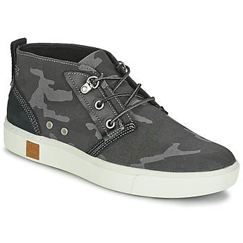 Sapatos Homem Sapatilhas de cano-alto Timberland AMHERST CHUKKA Cinza / Camuflagem / Preto