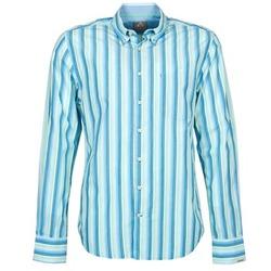 Textil Homem Camisas mangas comprida Gaastra SUMMERJAM Azul / Branco
