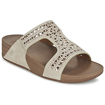 Sapatos Mulher Chinelos FitFlop CARMEL SLIDE Bege