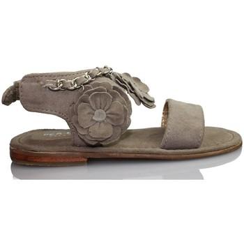 Sapatos Criança Sandálias Oca Loca OCA LOCA VALENCIA SANDALIA BEBE PIEL ANTE TAUPE