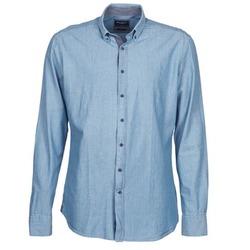 Textil Homem Camisas mangas comprida Hackett RILEY Azul