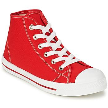 Sapatos Homem Sapatilhas de cano-alto Yurban WAXI Vermelho