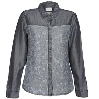 Textil Mulher camisas Esprit Denim Blouse Cinza