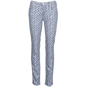 Textil Mulher Calças Jeans Lee MARION STRAIGHT Estampado / Azul