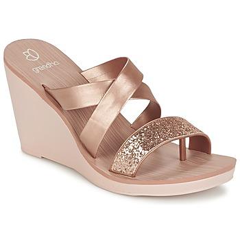 Sapatos Mulher Sandálias Grendha PARADISO II PLAT Rosa / Metalizado