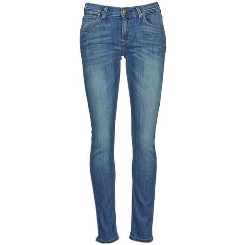 Textil Mulher Calças de ganga slim Lee JADE Azul