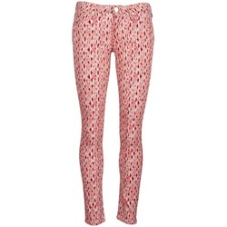 Textil Mulher Calças de ganga slim Lee SCARLETT Vermelho / Laranja