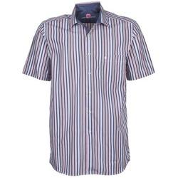Textil Homem Camisas mangas curtas Pierre Cardin 514636216-184 Azul / Rosa